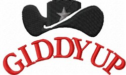 Giddy Up embroidery design
