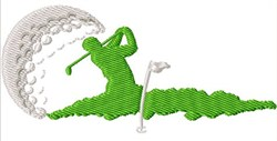 Golfing Scene embroidery design