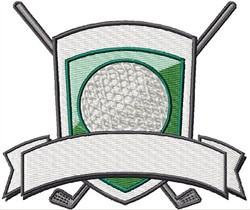 Blank Golf Badge embroidery design
