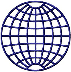 Globe Grid embroidery design