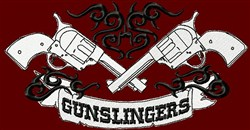 Gunslinger Tattoo Style embroidery design