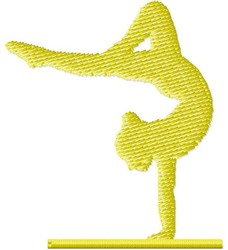 Gymnast Balance Beam embroidery design