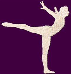 Gymnast Silhouette embroidery design