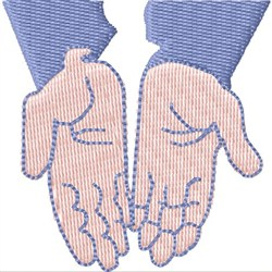 Open Hands embroidery design