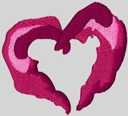 Multi-Layered Heart embroidery design