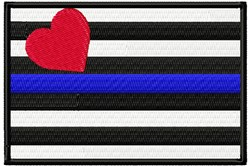 Blue Line Flag embroidery design