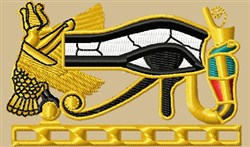 Egyptian Symbols embroidery design