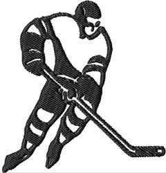 Hockey Skater embroidery design