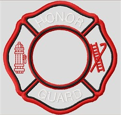 Firefighter Honor Guard embroidery design