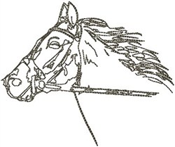 Horse Pencil Sketch embroidery design