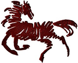 Horse Doodle embroidery design