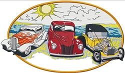 Hot Rods Scene embroidery design