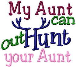 Hunting Aunt embroidery design