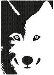 Husky Cut Out embroidery design