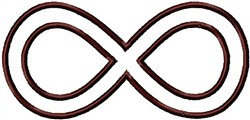 Infinity Outline embroidery design