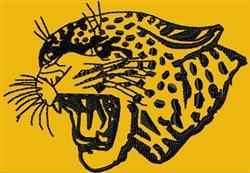 Snarling Jaguar embroidery design