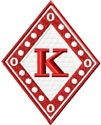 Kappa Diamond embroidery design