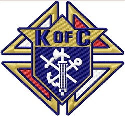 Knights Of Columbus Emblem embroidery design