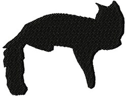 Silhouette Cat embroidery design