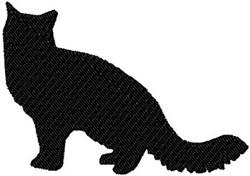 Black Cat Silhouette embroidery design