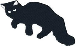 Cute Black Cat embroidery design