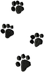 Kitty Paw Prints embroidery design
