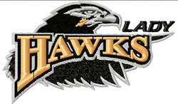 Lady Hawks embroidery design