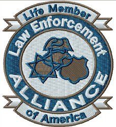Law Enforcement Emblem embroidery design
