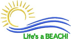 Lifes A Beach embroidery design