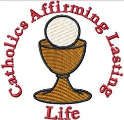 Catholic Chalice Emblem embroidery design