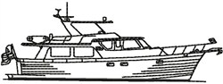 Line Drawing Yacht embroidery design