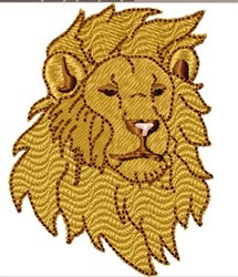 Male Lion Head embroidery design