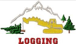 Logging Scene embroidery design