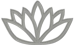 Lotus Cut Out embroidery design