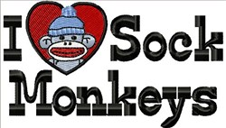 Love Sock Monkey embroidery design