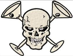 Matini Glasses & Skull embroidery design