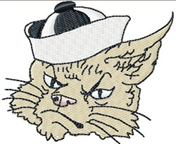 Sailor Cat embroidery design