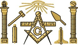 Masonic Symbols embroidery design