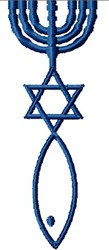 Messianic Judaism Symbol embroidery design