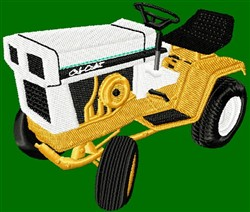 Riding Mower embroidery design