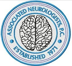 Neurologists Emblem embroidery design