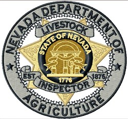 Nevada Agriculture Emblem embroidery design