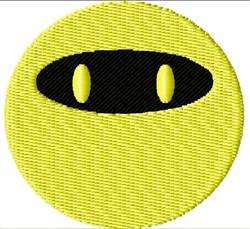 Ninja Smiley Face embroidery design