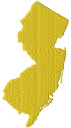 New Jersey Detailed embroidery design