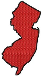 New Jersey embroidery design