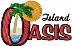 Island Oasis Logo embroidery design