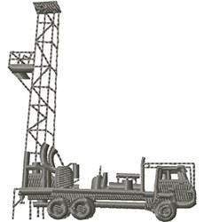 Oil Drilling Rig embroidery design