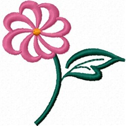 Open Flower embroidery design