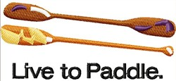 Paddles embroidery design