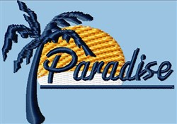 Paradise Palm embroidery design